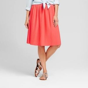 Merona Coral Pleated Skirt